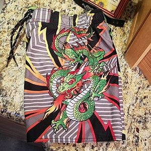 Boy's dragon swimsuit,  GUC, size 6 small